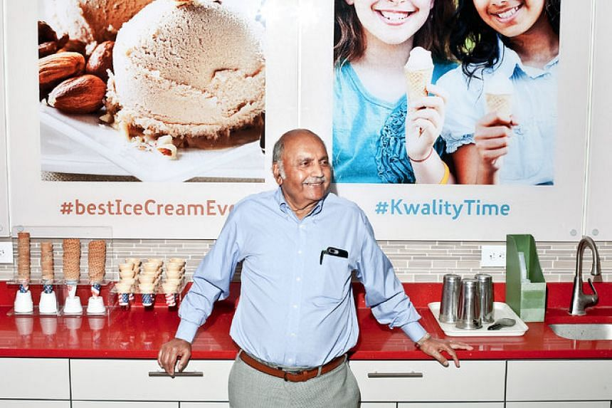 Dr Kanti Parekh, who founded the Kwality Ice Cream store in Edison, New Jersey, engineered his ice cream flavours to appeal to Indian palates.