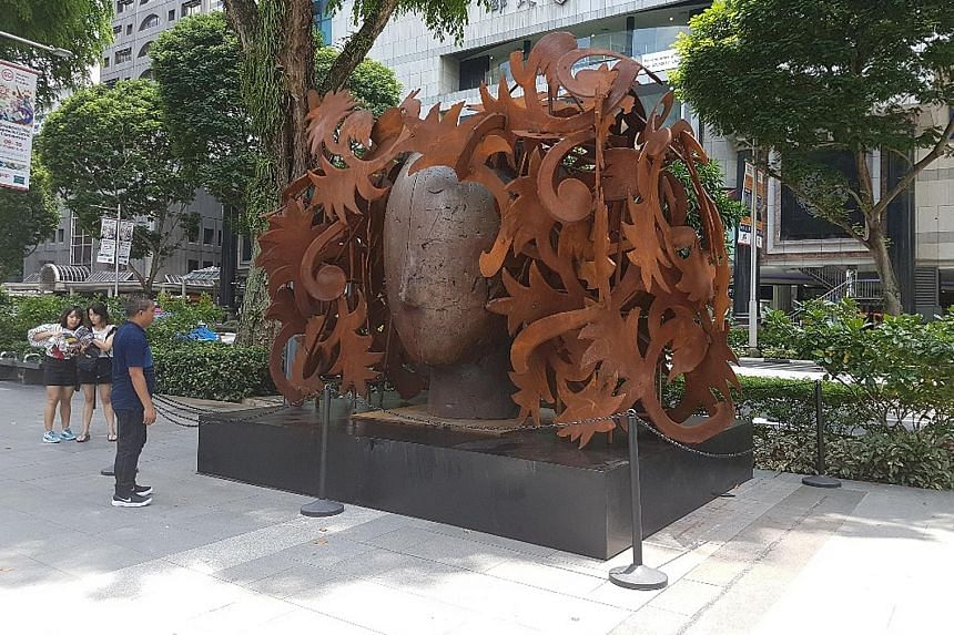 Ferns, one of the nine sculptures by Spanish artist Manolo Valdes that will be exhibited by Opera Gallery along Orchard Road until Oct 15.