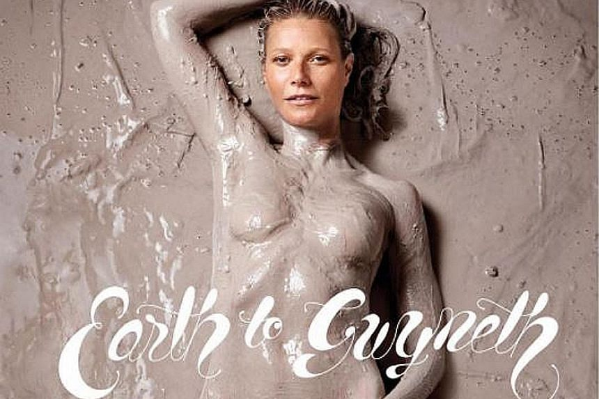 The first issue of Goop magazine has its founder, actress Gwyneth Paltrow, slathered in mud on its cover.