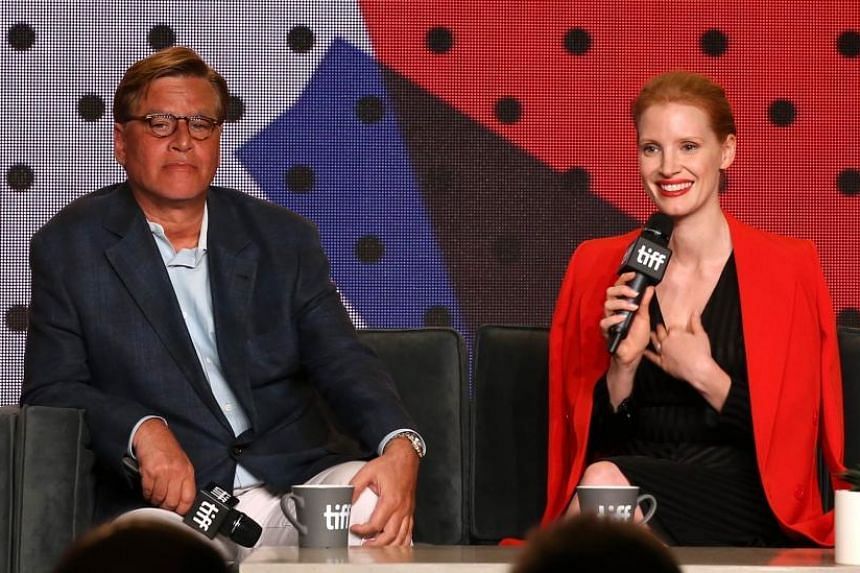 Writer-director Aaron Sorkin's directorial debut, crime drama Molly's Game, stars actress Jessica Chastain as the former Olympic skier Molly Bloom. The work premiered at the Toronto International Film Festival.