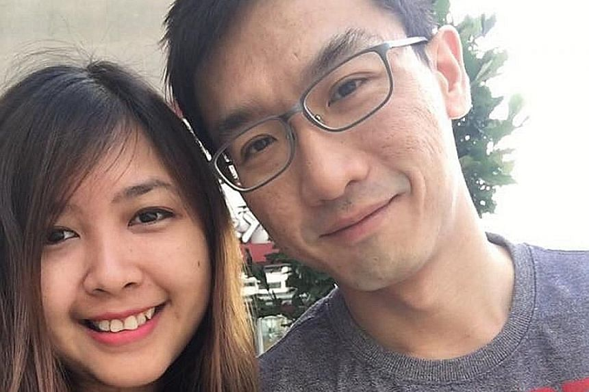 Ms Cynthia Santa Maria and her husband Ryan Chia evacuated in the nick of time.
