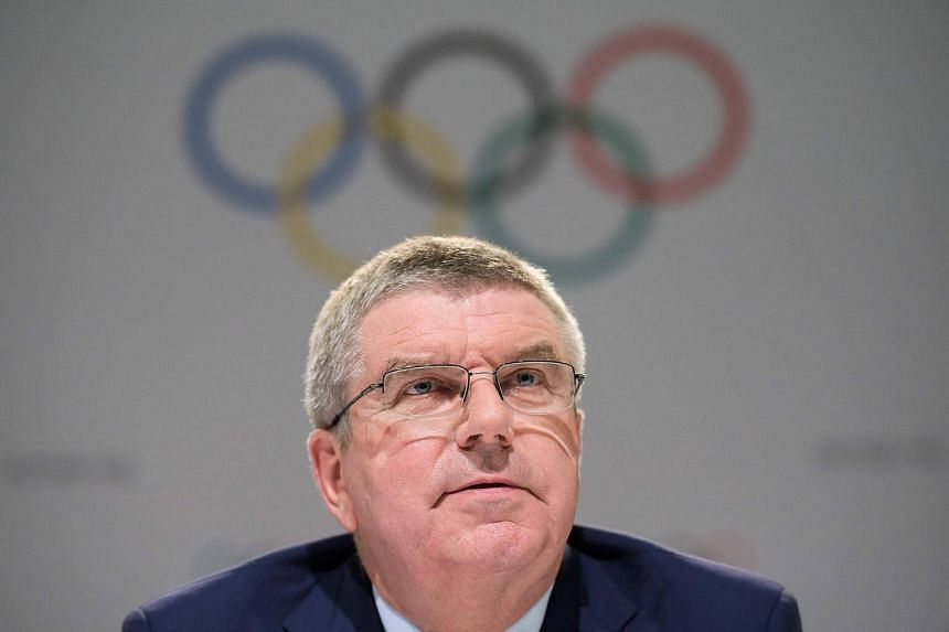 International Olympic Committee (IOC) President Thomas Bach looks on during a press conference ahead of the IOC Session in Lima, on Sept 11, 2017.
