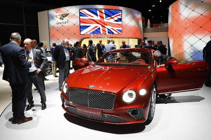 A Bentley Continental GT is pictured during opening of the Frankfurt Motor Show (IAA) in Frankfurt, on Sept 11, 2017.