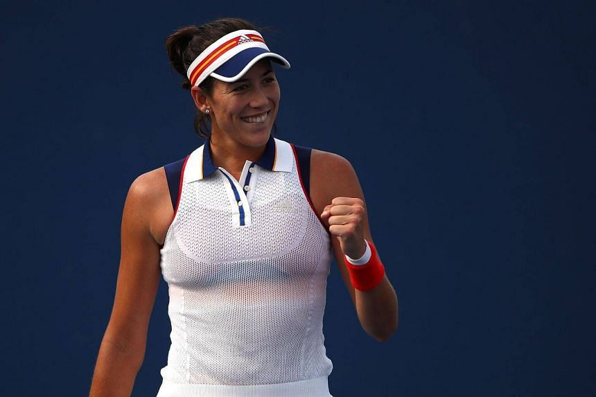 Garbine Muguruza of Spain celebrates her third round match win on day five of the 2017 US Open at the USTA Billie Jean King National Tennis Center on Sept 1, 2017 in the Flushing neighborhood of the Queens borough of New York City.
