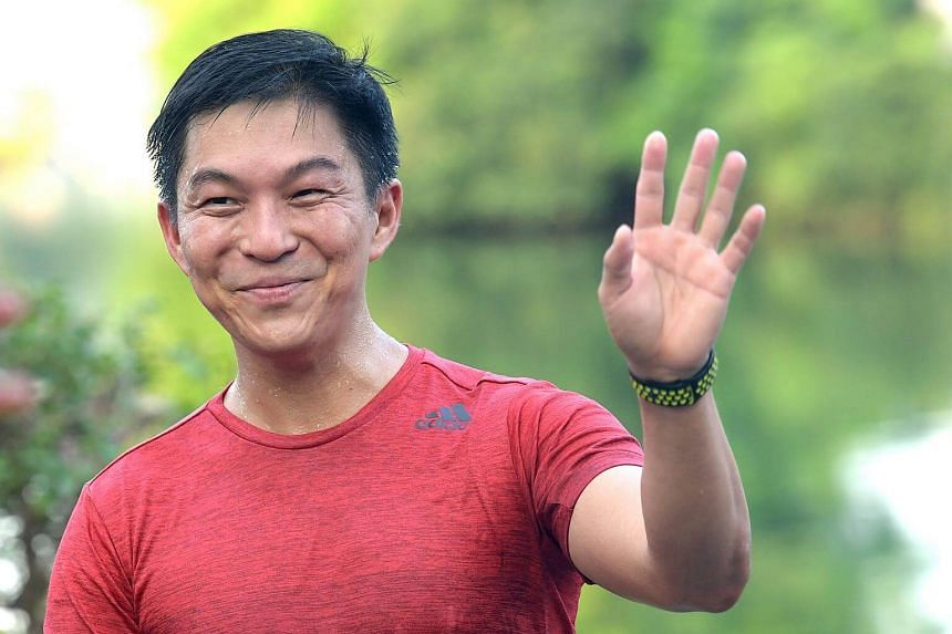 Former Minister for Social and Family Development Tan Chuan-Jin out for a farewell run at the MacRitchie Reservoir on Sept 7, 2017.