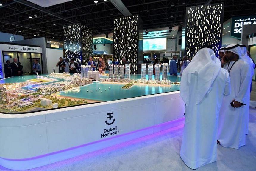 Visitors attend the Cityscape Global exhibition, Dubai's premier property show, on Sep 11, 2017 in Dubai.