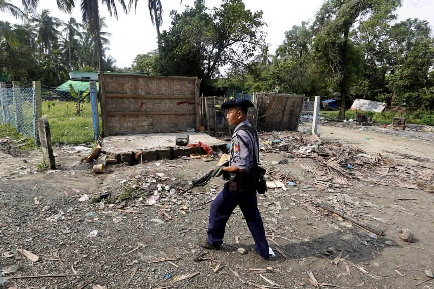 Rohingya militants attacked police posts in late August, prompting a military backlash that has sent nearly a third of the Muslim minority population fleeing to Bangladesh.