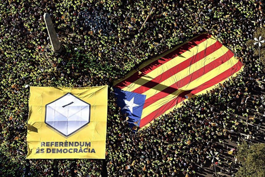 The vote is set for Oct 1 and the northeastern region's separatists are determined to go ahead with it despite Madrid's refusal and a court ban, as a struggle between Catalonia and Spain's central government escalates dramatically.
