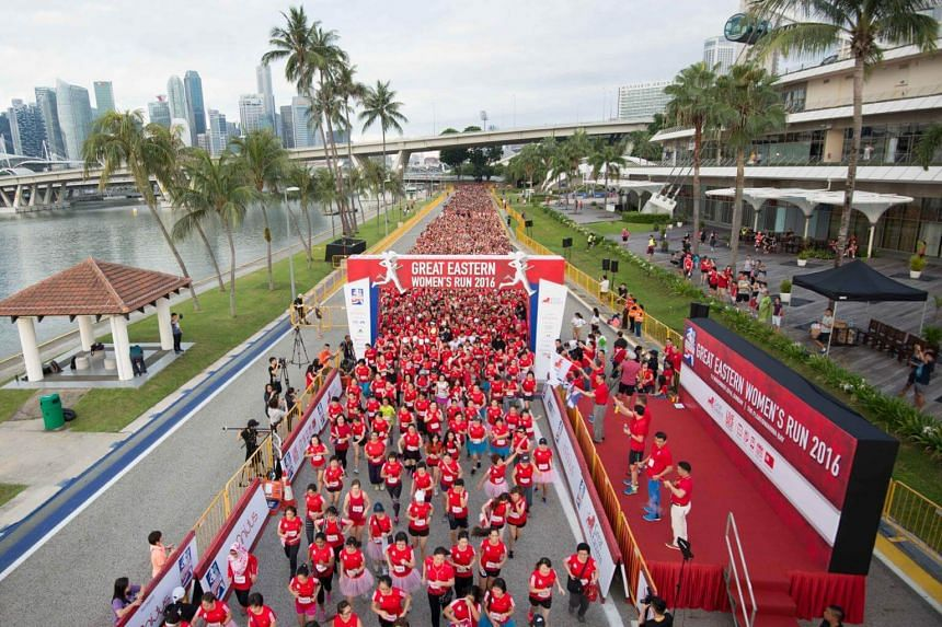 This year's Great Eastern Women's Run will happen on Nov 12 at The Float@Marina Bay. Participants can look forward to a new category and prizes offered by Great Eastern.