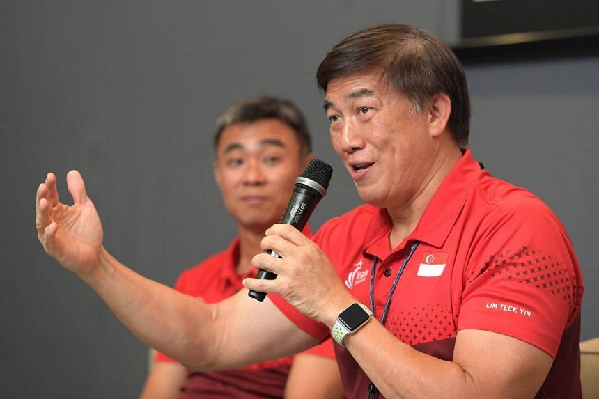 """Speaking at a post-SEA Games media conference at the Sport Singapore (SportSG) auditorium on Tuesday (Sept 12), SportSG chief executive officer Lim Teck Yin said: """"It's obvious that our ambitions are higher than No. 4""""."""