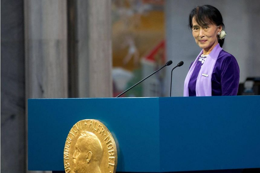 Burmese laureate Aung San Suu Kyi has been sharply criticised around the world for her failure to condemn brutal attacks on her country's Muslim minority now she is the effective leader.
