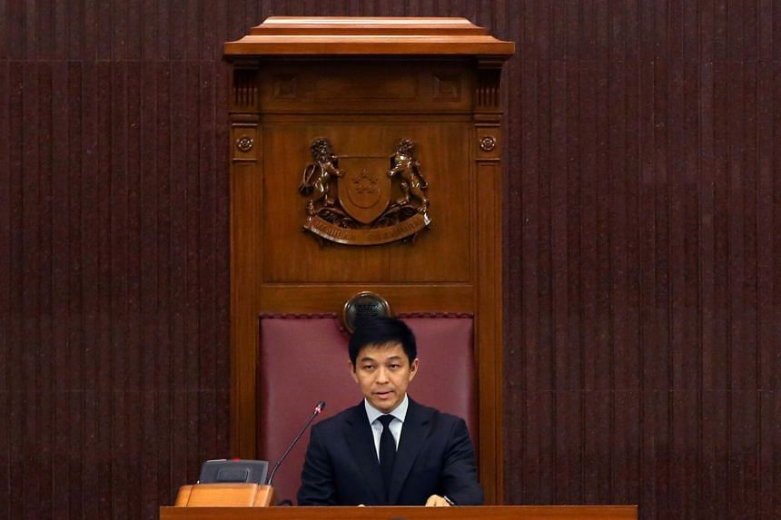 Mr Tan Chuan-Jin at his first sitting as Singapore's 10th Speaker of Parliament on Sept 11,2017.