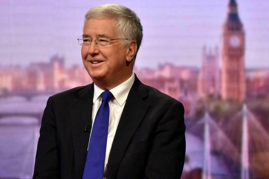 British defence minister Michael Fallon appears on the BBC's The Andrew Marr Show, in central London, Britain on Sept 10, 2017.
