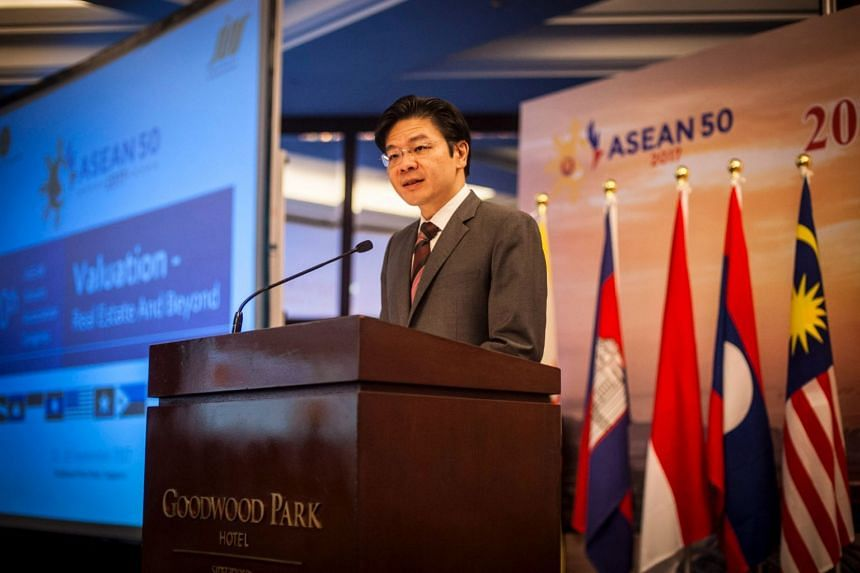 """""""The real estate industry - including valuers - must transform in the face of digital innovation in other countries,"""" said Mr Lawrence Wong."""