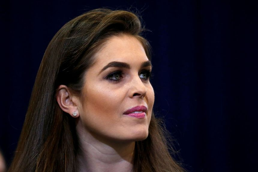Hope Hicks (above, in a file photo) had been acting director since the spectacular departure of Anthony Scaramucci.