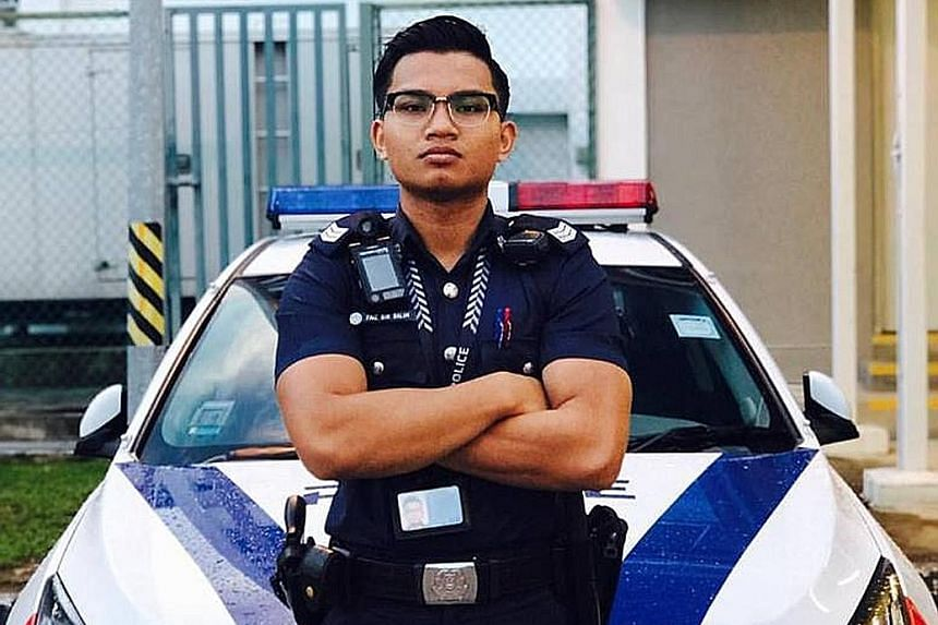 Mr Faiz Salim, 23, who recently completed his national service with the police force, was the eldest of five children. He died after his motorcycle skidded and hit a lorry on the SLE at about 1.30pm on Sunday.