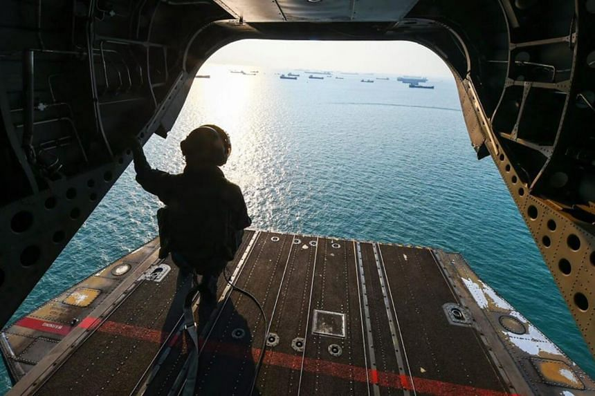 A total of two Super Puma helicopters, two Chinooks and one Fokker 50 were deployed by The Republic of Singapore Air Force today.