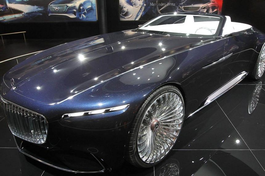 A Vision Mercedes-Maybach Cabriolet is presented at the Frankfurt Auto Show IAA in Frankfurt am Main, Germany, on Sept 13, 2017.