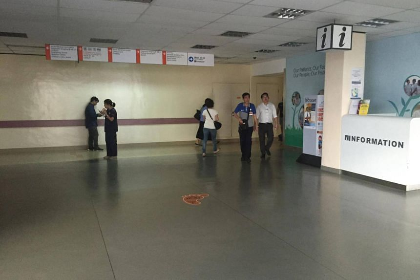 The power outage lasted one and a half hours and affected mainly the first floor of NUH's main building.