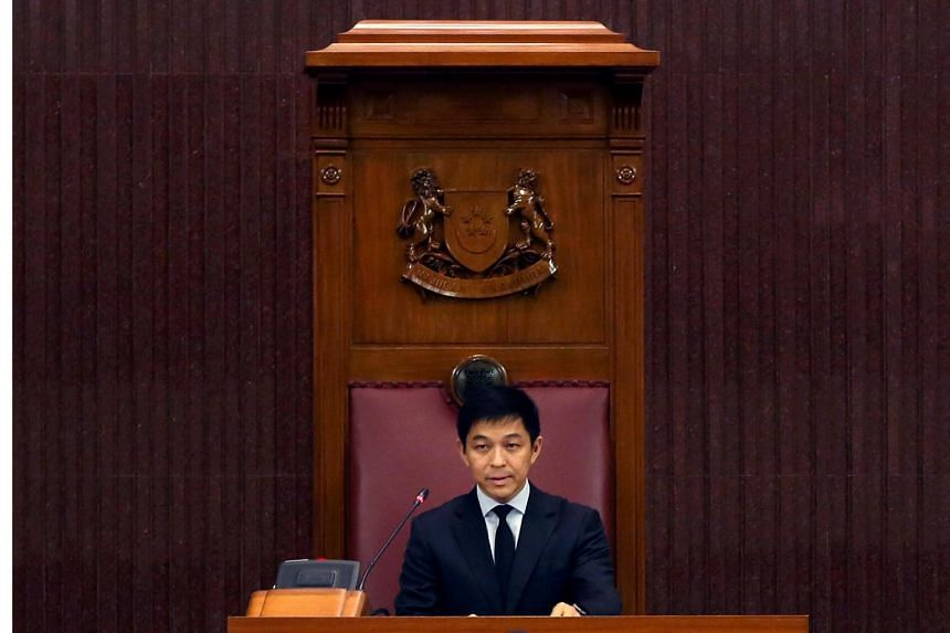 Mr Tan Chuan-Jin at his first sitting as Singapore's 10th Speaker of Parliament on Sept 11, 2017.
