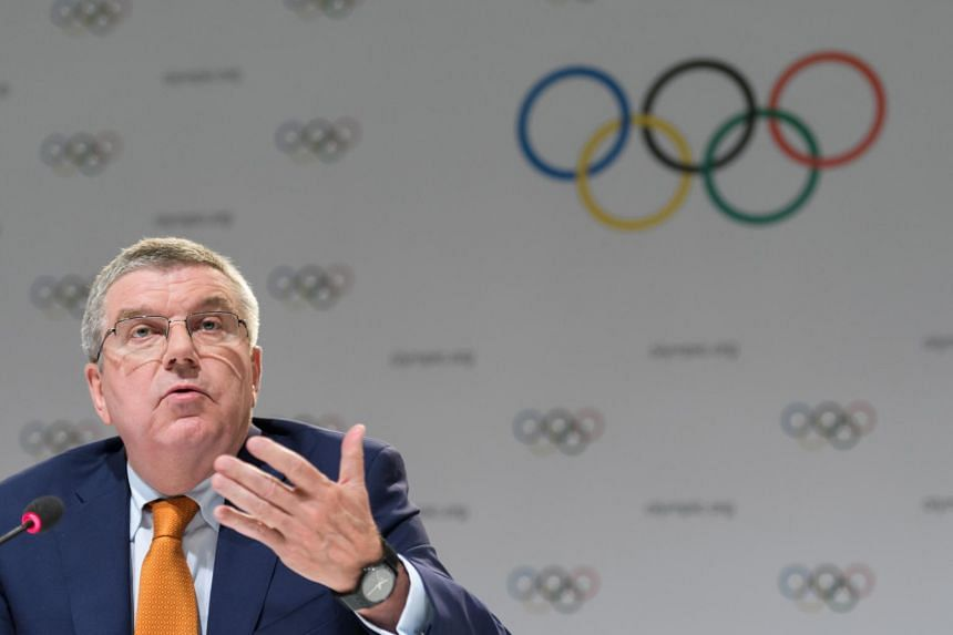 International Olympic Committee (IOC) President Thomas Bach at a press conference ahead of the IOC Session in Lima on Sept 11, 2017.