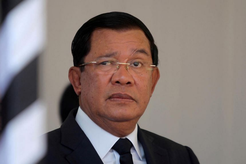 Cambodian Prime Minister Hun Sen attends the funeral of Cambodia's late Deputy Prime Minister Sok An in Phnom Penh, Cambodia, on March 19, 2017.