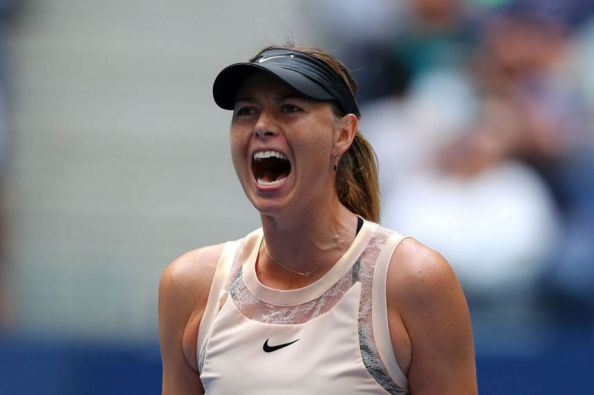 Sharapova in action at the US Open on Sept 3, 2017