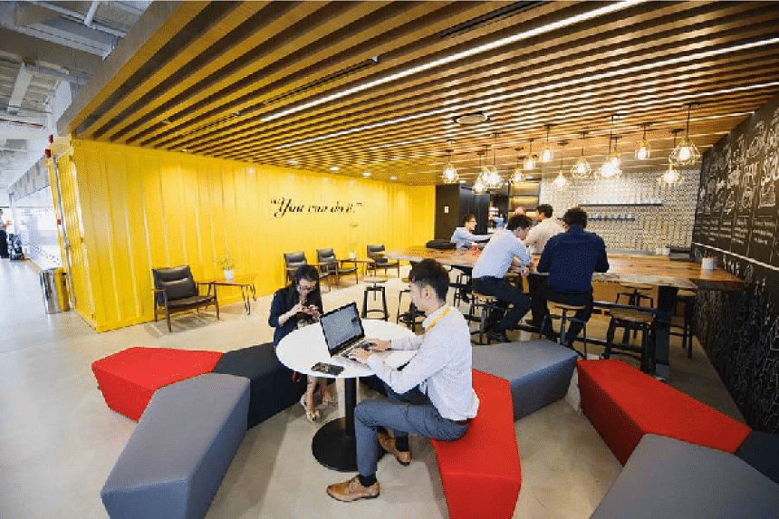 The Accenture Digital Hub's cafe and social space.