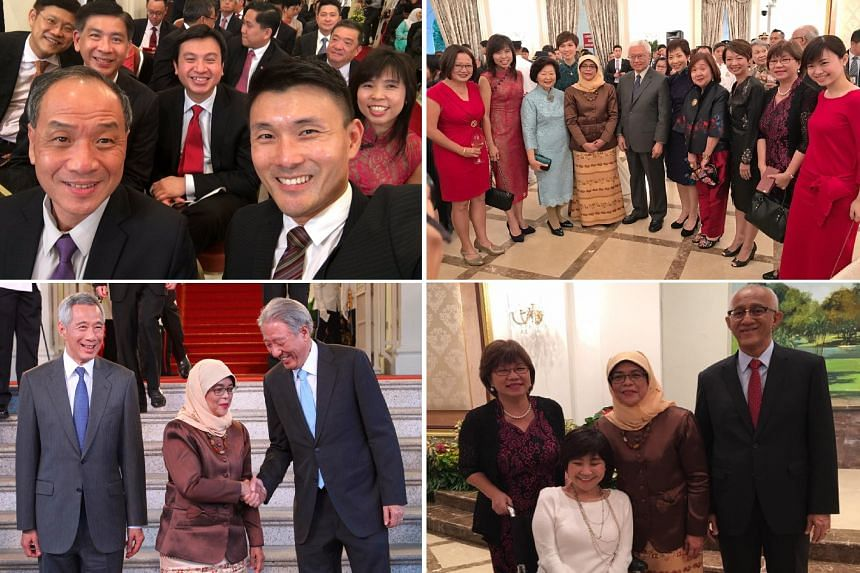 The MPs shared various photos from the ceremony at the Istana.