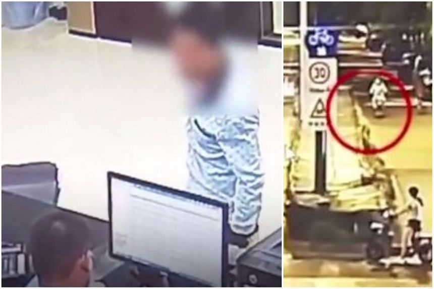 The man's fake story that he had been robbed came undone when police checked traffic camera footage.