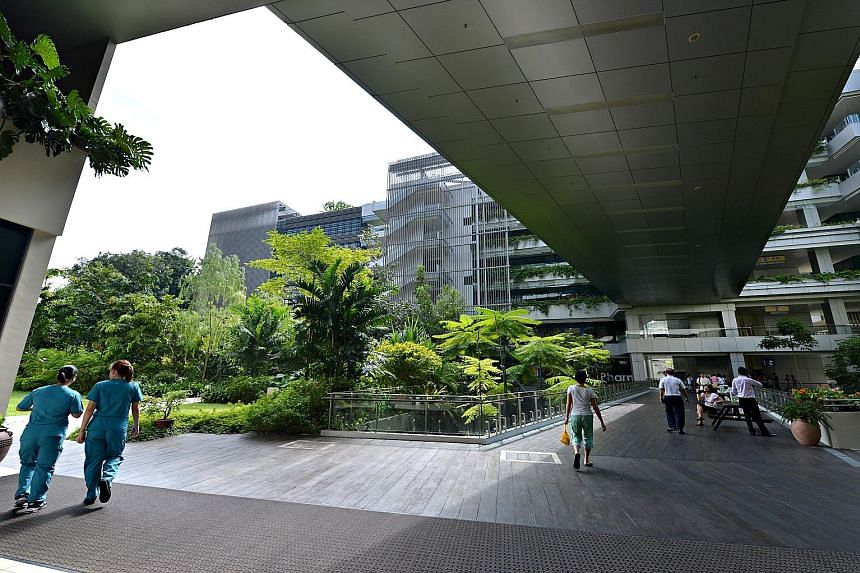 Khoo Teck Puat Hospital is a Green Mark Platinum building - the highest rating for buildings in Singapore. Green Mark-certified buildings keep occupants healthier than those that are not, a recent study showed.