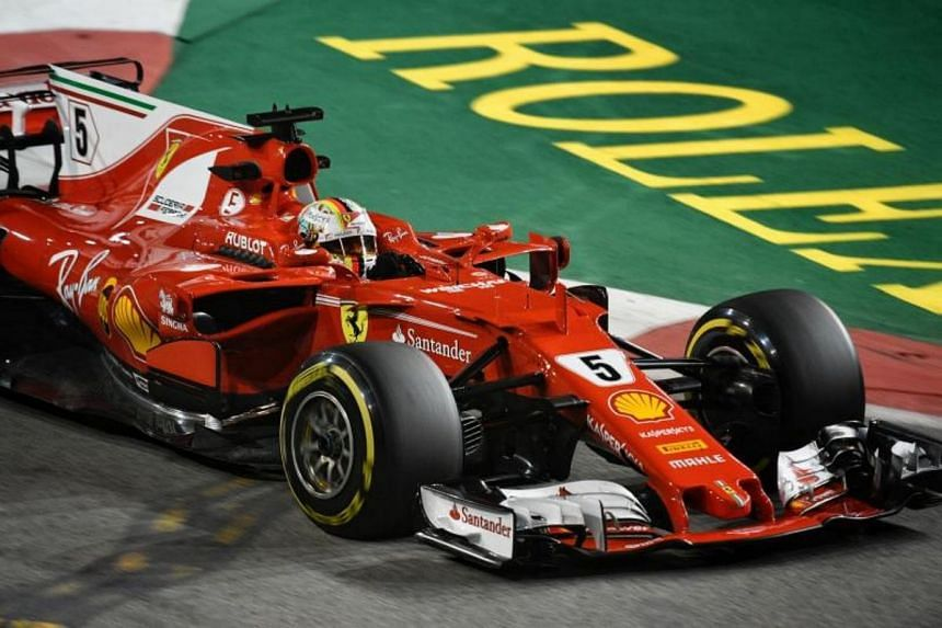 First and second practice session of the 2017 Formula One Singapore Airlines Singapore Grand Prix at the Marina Bay street circuit on Sep 15, 2017.