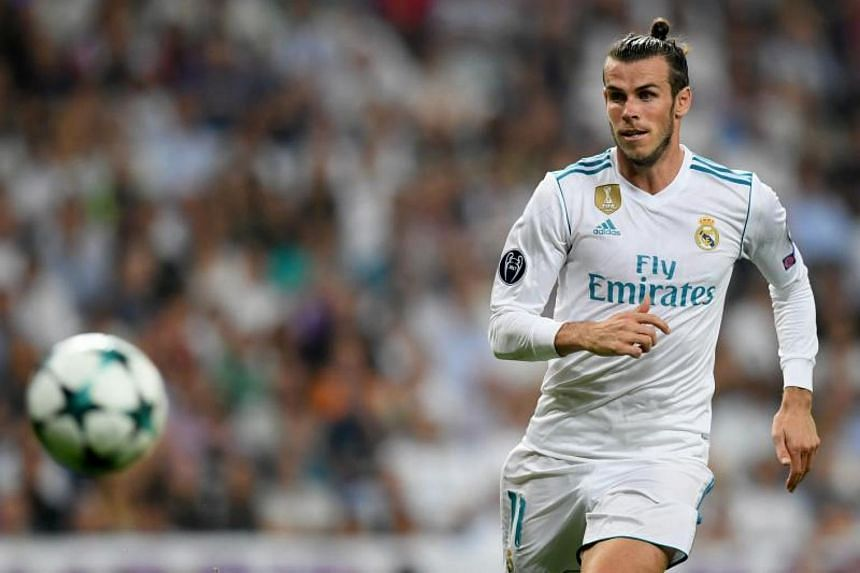 Real Madrid's Welsh forward Gareth Bale runs for the ball during the UEFA Champions League football match on Sept 13 2017.