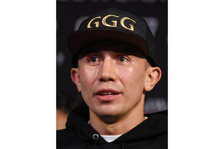 WBC, WBA and IBF middleweight champion Gennady Golovkin speaks during a news conference at MGM Grand Hotel & Casino on Sept 12, 2017 in Las Vegas, Nevada.