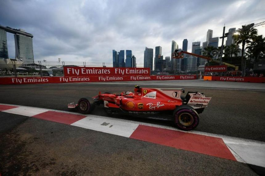 First and second practice session of the 2017 Formula One Singapore Airlines Singapore Grand Prix.