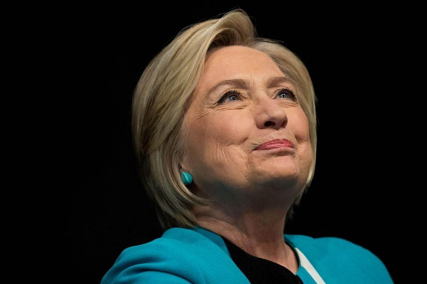 Former US Secretary of State Hillary Clinton  at a book signing event at Barnes and Noble bookstore on Sept 12, 2017 in New York City.