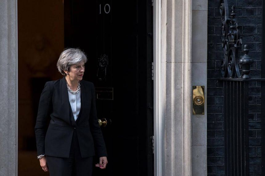 Britain's Prime Minister Theresa May in Downing Street in central London on Sept 14, 2017.