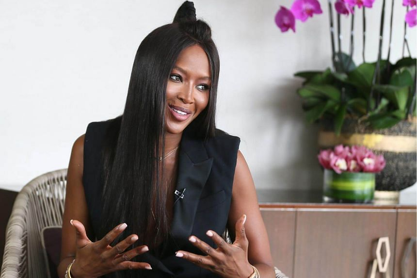 Supermodel Naomi Campbell and her views on the business of modeling, racial bias, her charity work at Four Seasons Hotel on Sept 15, 2017.