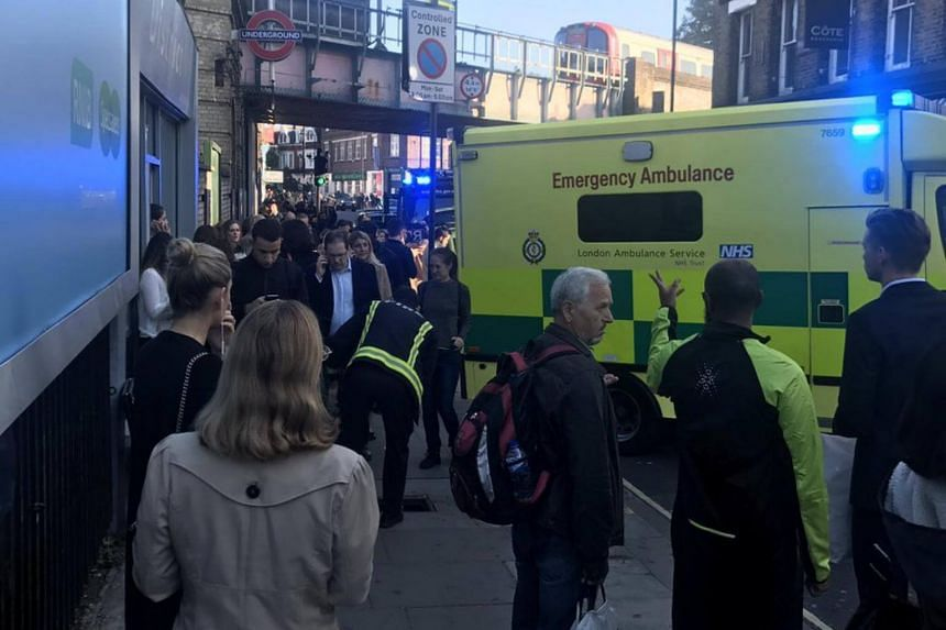 """An explosion on a London Underground train on Friday left commuters with """"facial burns"""", reported local media."""