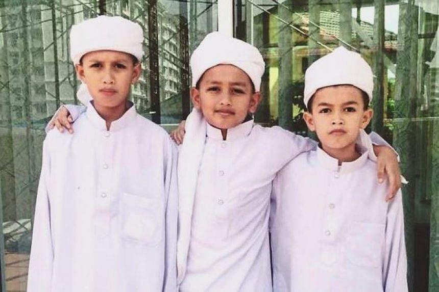 Mrs Mashawani Mohamed Shahid's sons, Muhammad Syafid Haikal, 13, Muhammad Hafiz Iskandar, 11, and Muhammad Harris Ikhwan, 10, died in the fire at the Darul Quran Ittifaqiyah Tahfiz Centre in Jalan Datuk Keramat.