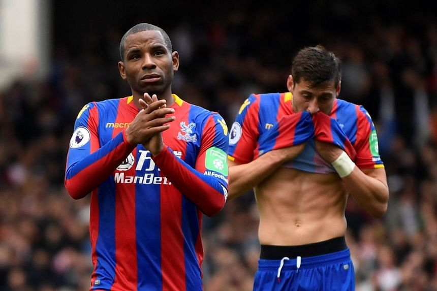 Crystal Palace's Jason Puncheon and Joel Ward look dejected after the match.