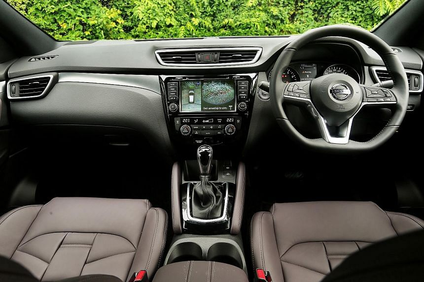 The new Qashqai is as agile as before and has a redesigned multi-function steering wheel.