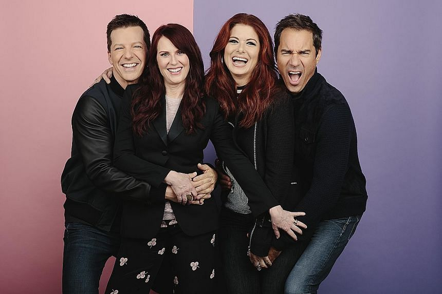 The original cast of Will & Grace, (from left) Sean Hayes, Megan Mullally, Debra Messing and Eric McCormack, are back for the revival.
