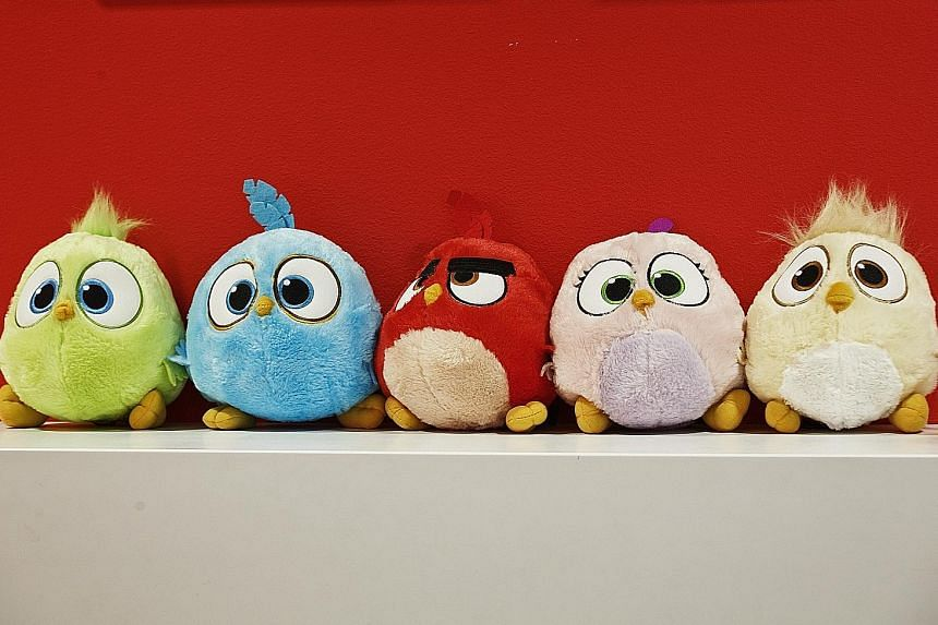 Angry Birds toys on display at the headquarters of Rovio Entertainment in Espoo, Finland. The company announced its long-awaited IPO this month, saying it was aiming to boost growth and to take part in gaming industry consolidation.