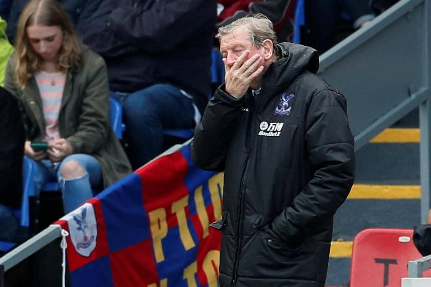 Crystal Palace manager Roy Hodgson looks dejected after the Crystal Palace vs Southampton match at Selhurst Park, London on Sept 16, 2017.