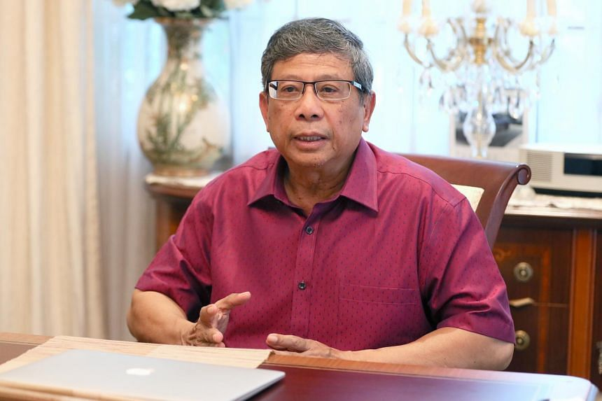 Mr Salleh Marican talking to the media at his home on Sept 11, 2017.