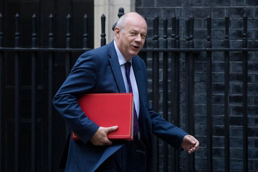 Damian Green arrives for a weekly meeting of cabinet ministers at No. 10 Downing Street in London on Sept 5, 2017.
