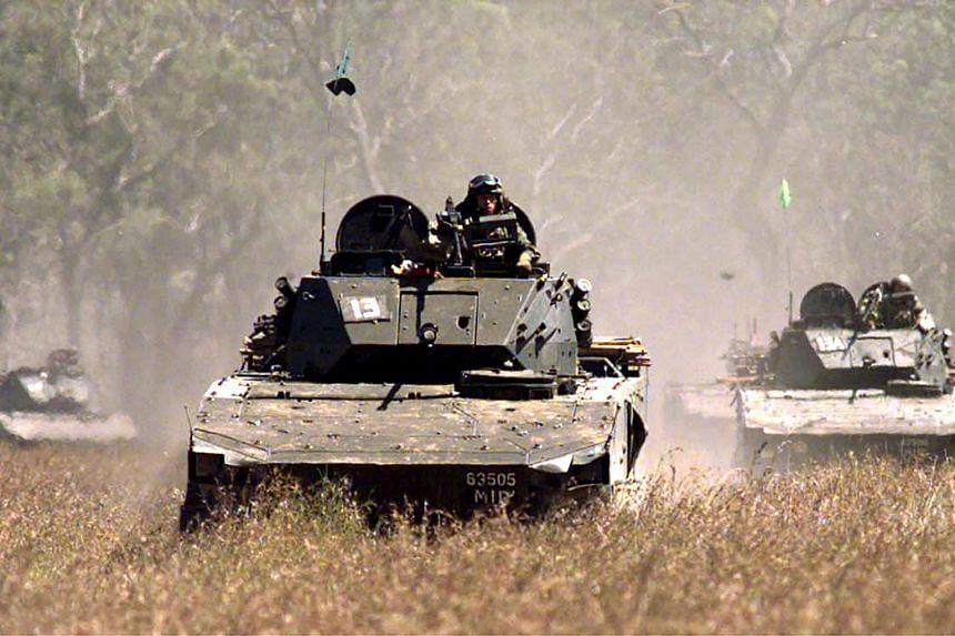 The Bionix IFV (Infantry Fighting Vehicle), seen here in a technical firing exercise in the Shoalwater Bay Training Area, Australia on Aug 3, 2011.