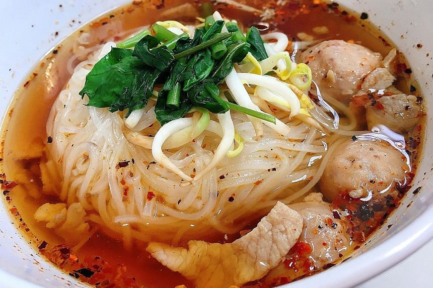 WLF We Love Food's Hearty Mediterranean (left) and Thai Boat Noodle's Pork Special Soup.