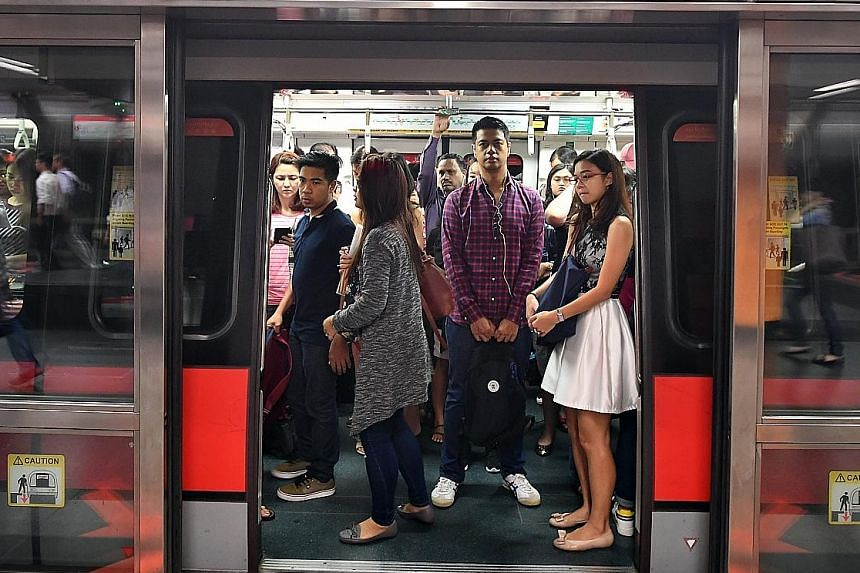 At peak hour, says the writer, the train is a social vacuum packed with bodies whose minds are floating off somewhere else.